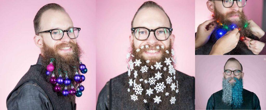 baard kerstballen versiering